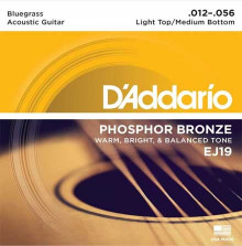 Струны D'Addario Phosphor Bronze Acoustic Guitar Strings EJ19 Medium-Light 12-56