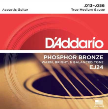 Струны D'Addario Phosphor Bronze Acoustic Guitar Strings EJ24 Medium 13-56