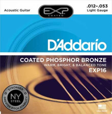Струны D'Addario Phosphor Bronze Acoustic Guitar Strings EXP16 Light 12-53