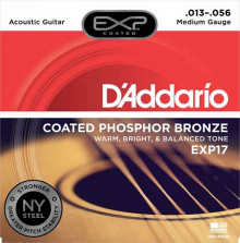 Струны D'Addario Phosphor Bronze Acoustic Guitar Strings EXP17 Medium 13-56