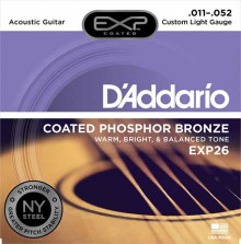 Струны D'Addario Phosphor Bronze Acoustic Guitar Strings EXP26 Light 11-52