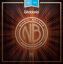 Струны D'Addario NB1253 Nickel Bronze Acoustic Guitar Strings 12-53
