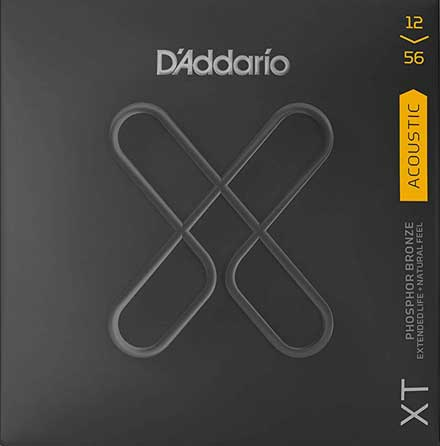Струны D'Addario XTAPB1256 Phosphor Bronze Acoustic Guitar StringsMedium-Light 12-56