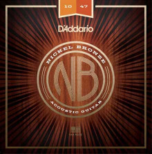 Струны D'Addario NB1047 Nickel Bronze Acoustic Guitar Strings 10-47