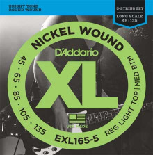 Струны для бас-гитары D'ADDARIO  EXL1655 Medium-Light 45-135
