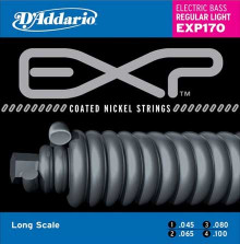 Струны для бас-гитары D'ADDARIO  EXP170 Light 45-100