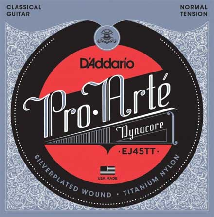 Титалоновые струны D'Addario EJ45TT Classical Guitar Strings