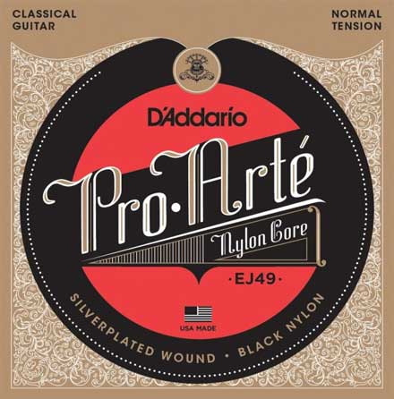 Нейлоновые струны D'Addario EJ49 Pro Arte NT Black Nylon Classical Guitar Strings