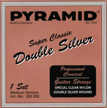Нейлоновые струны Pyramid Super Classic 369200 Double Silver Nylon Medium