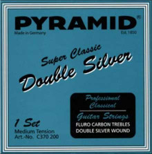 Нейлоновые струны Pyramid Super Classic 370200 Double Silver Nylon hard