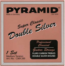 Карбоновые струны Pyramid Super Classic C369200 Double Silver Carbon Medium