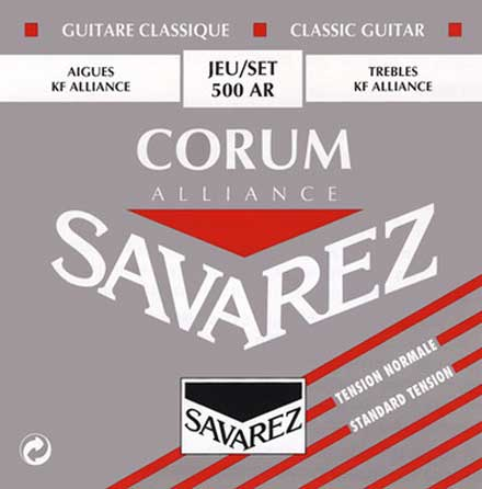 Карбоновые струны Savarez 500AR Alliance/Corum NT Classical Guitar Strings