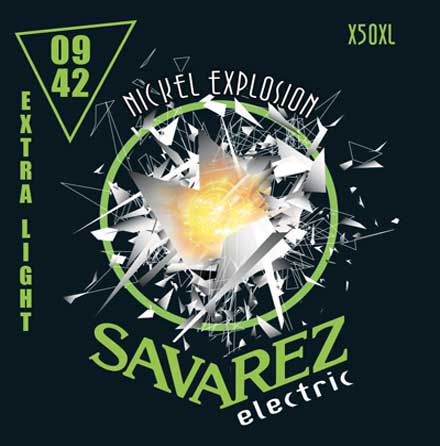 Струны для электрогитары Savarez X50XL Nickel Explosion Electric Guitar Strings Extra Light 9-42