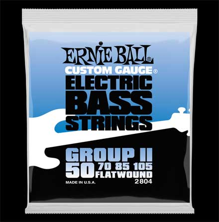 Струны для бас-гитары  Ernie Ball 2804 Flat Wound  Electric Bass Group-II  50-105