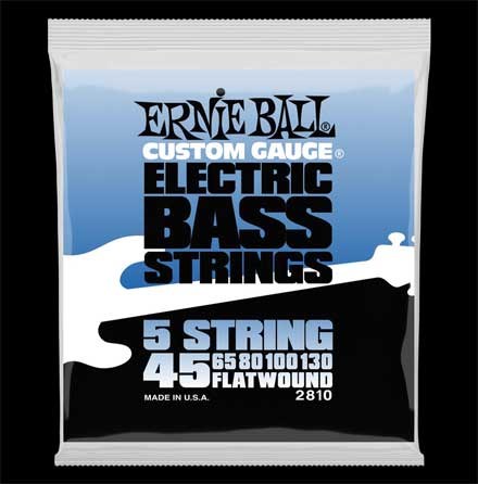 Струны для бас-гитары  Ernie Ball 2810 Flat Wound  5-string Electric Bass Group  45-130